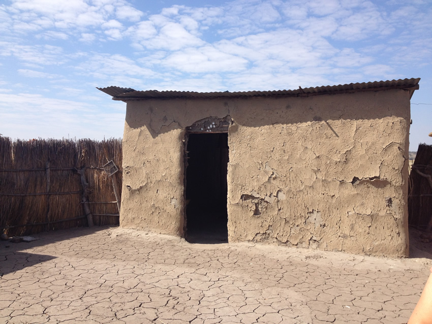 A traditional house at Ijambwe Village on the banks of the Chobe River, Namibia.